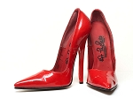 Hot Peppers Pointed Pumps - sz7